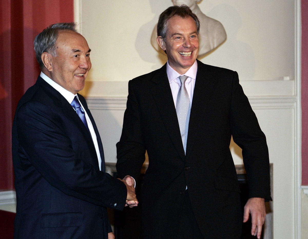 Blair and Nazarbayev