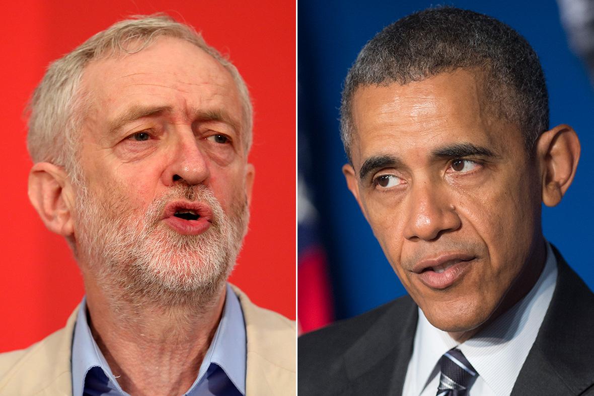 Jeremy Corbyn, Barack Obama