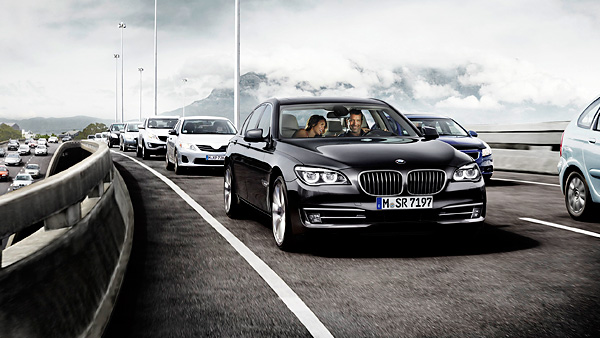 BMW 7-Series with traffic jam assistant