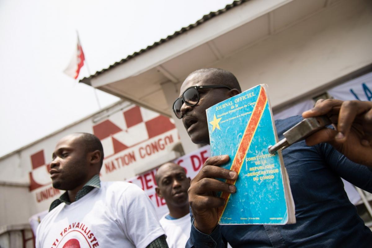 DRC protest third term