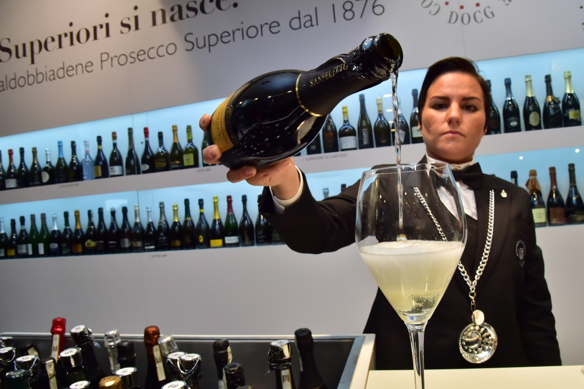Prosecco being poured