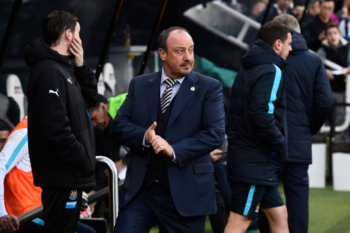 Rafael Benitez watches from the sidelines