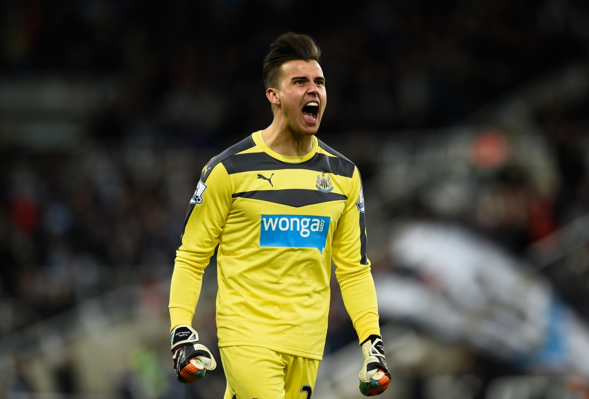Darlow celebrates Newcastle's goal