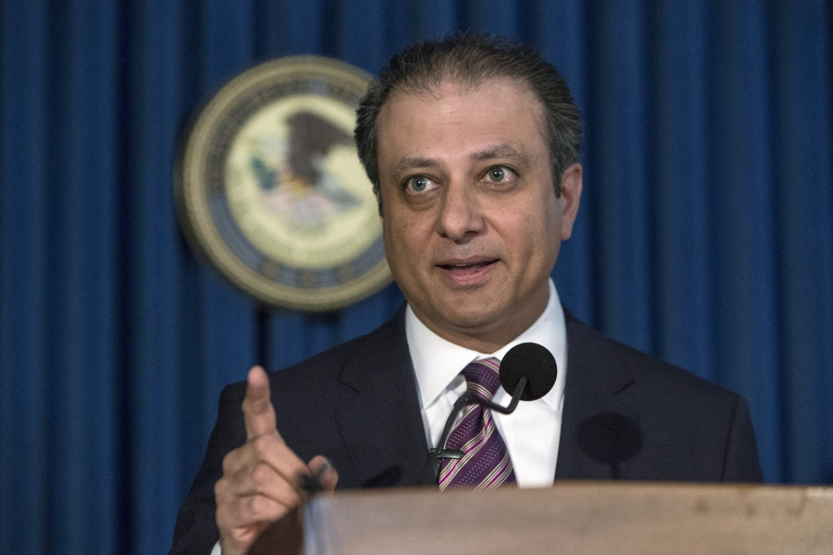 Manhattan US attorney Preet Bharara