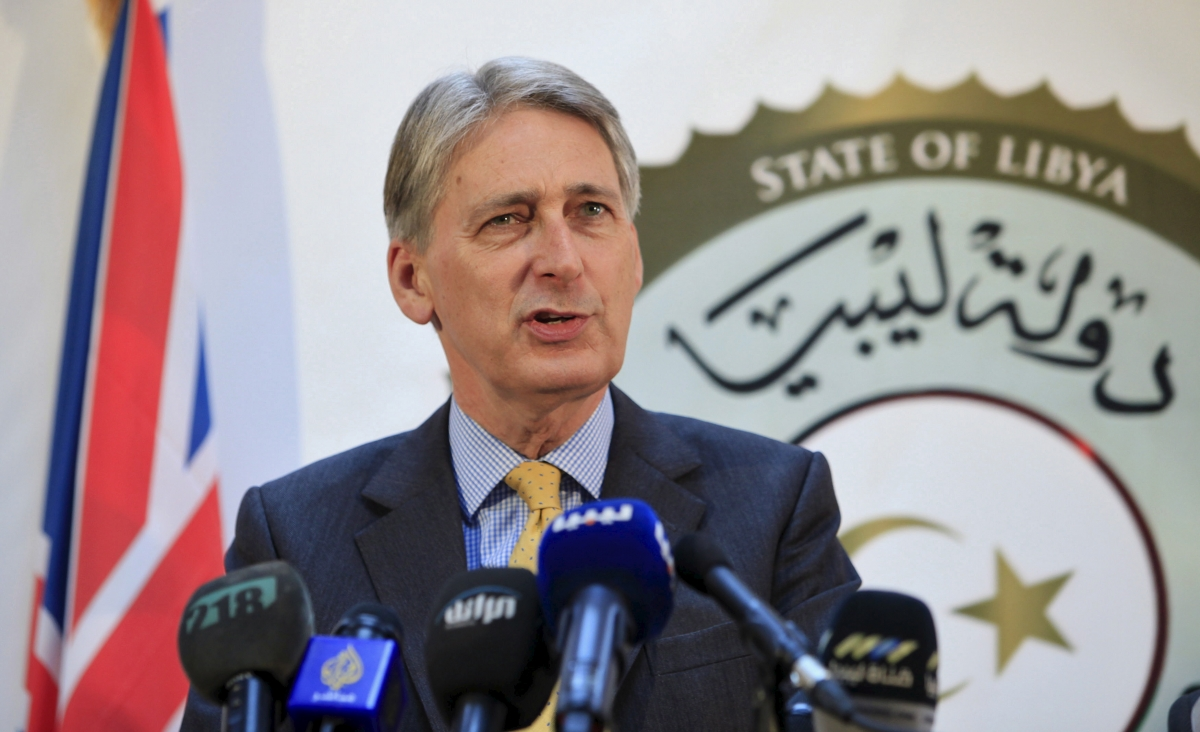Philip Hammond in Libya