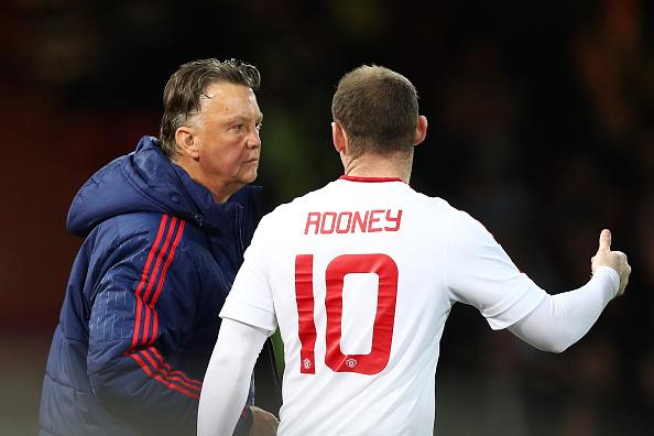Louis van Gaal and Wayne Rooney