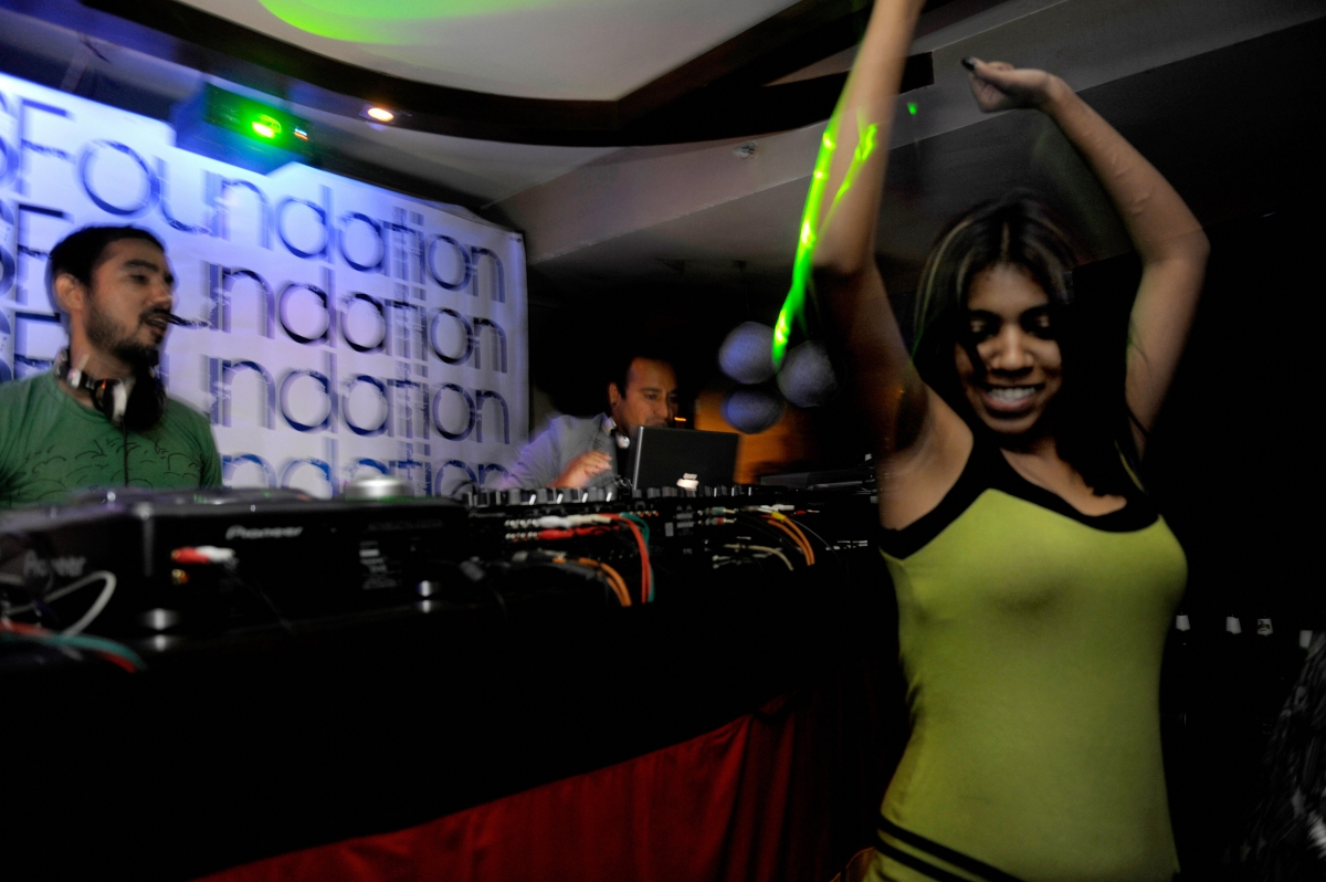 Indian woman in nightclub