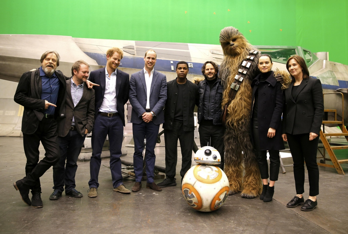 Royal visit to Pinewood Studios