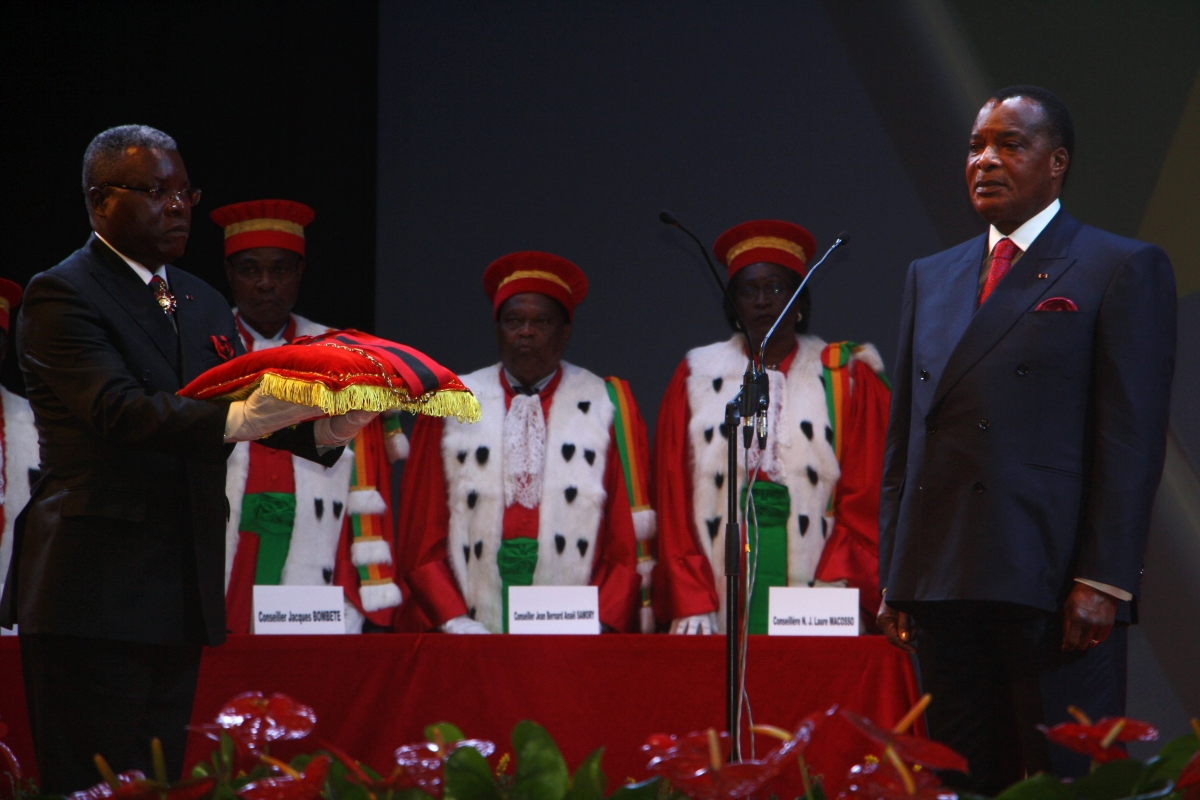 Congolese President Denis Sassou Nguesso