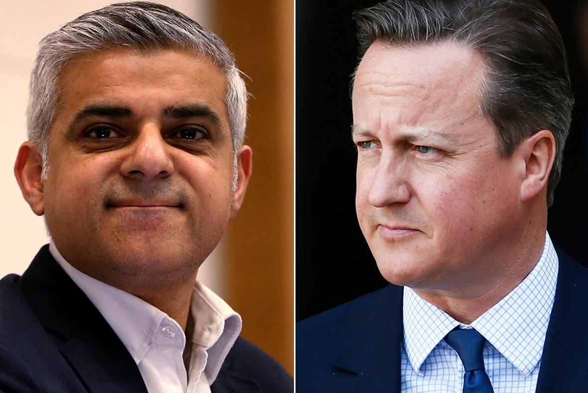 Sadiq Khan, David Cameron
