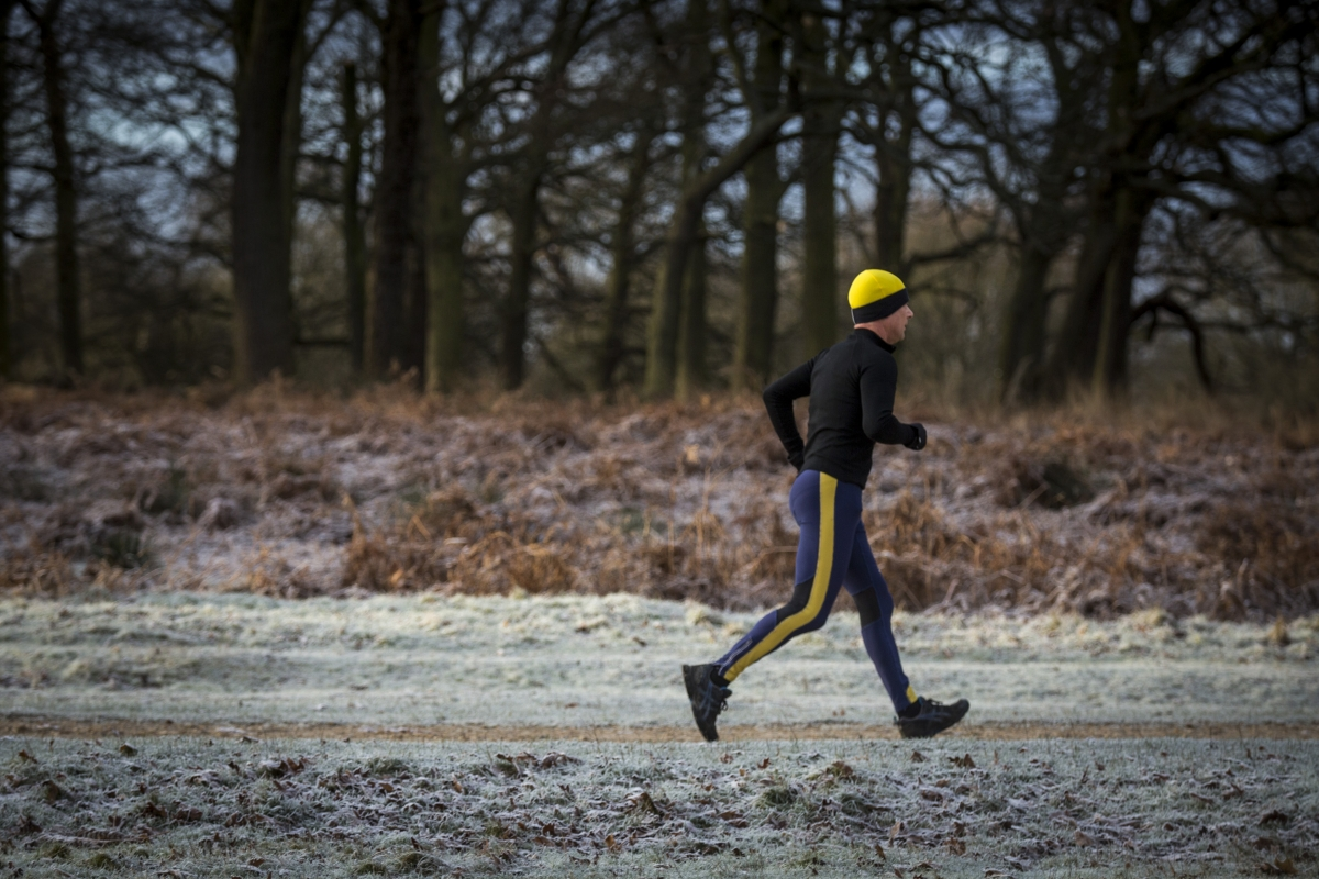Runner in the frost