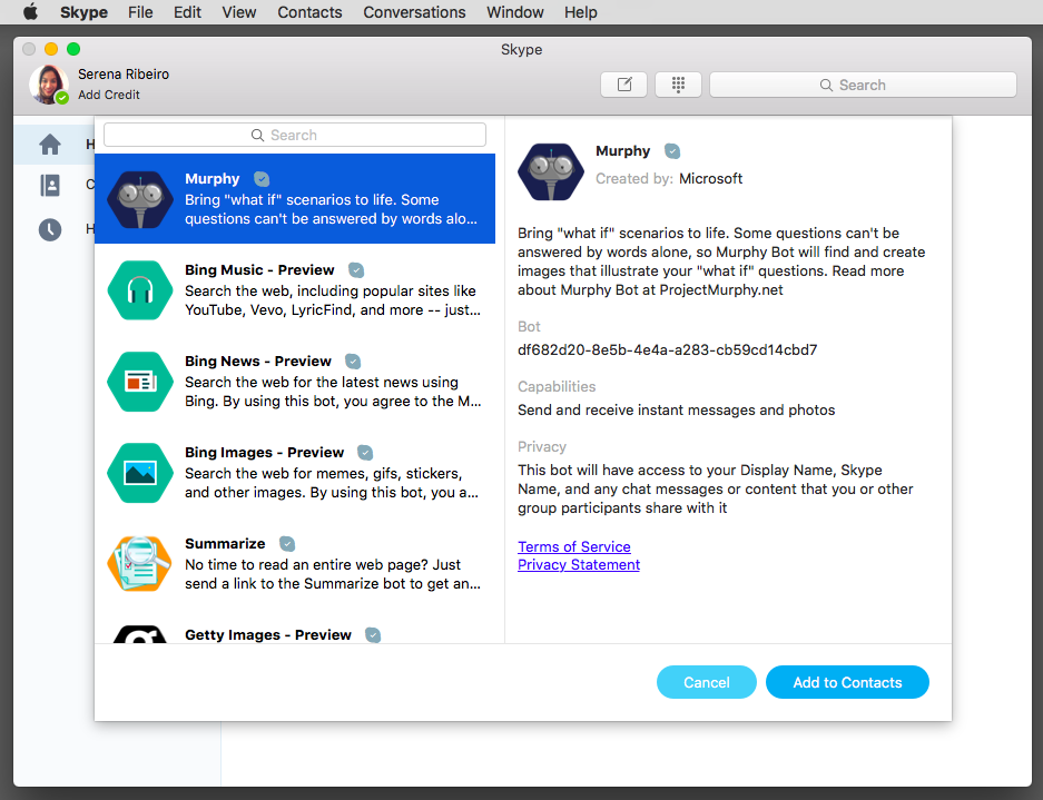 skype bots for mac