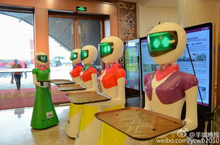 Chinese tycoon's robot maids
