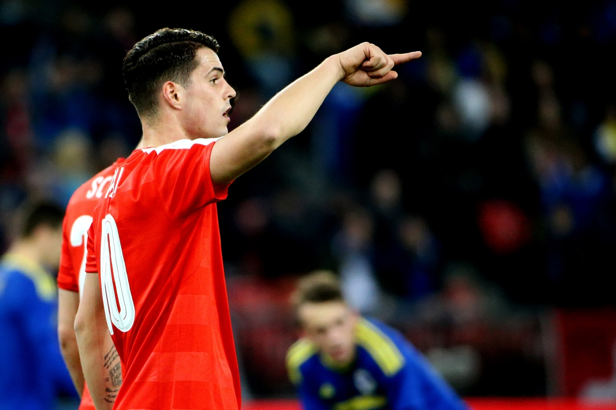 Granit Xhaka has been linked with Arsenal