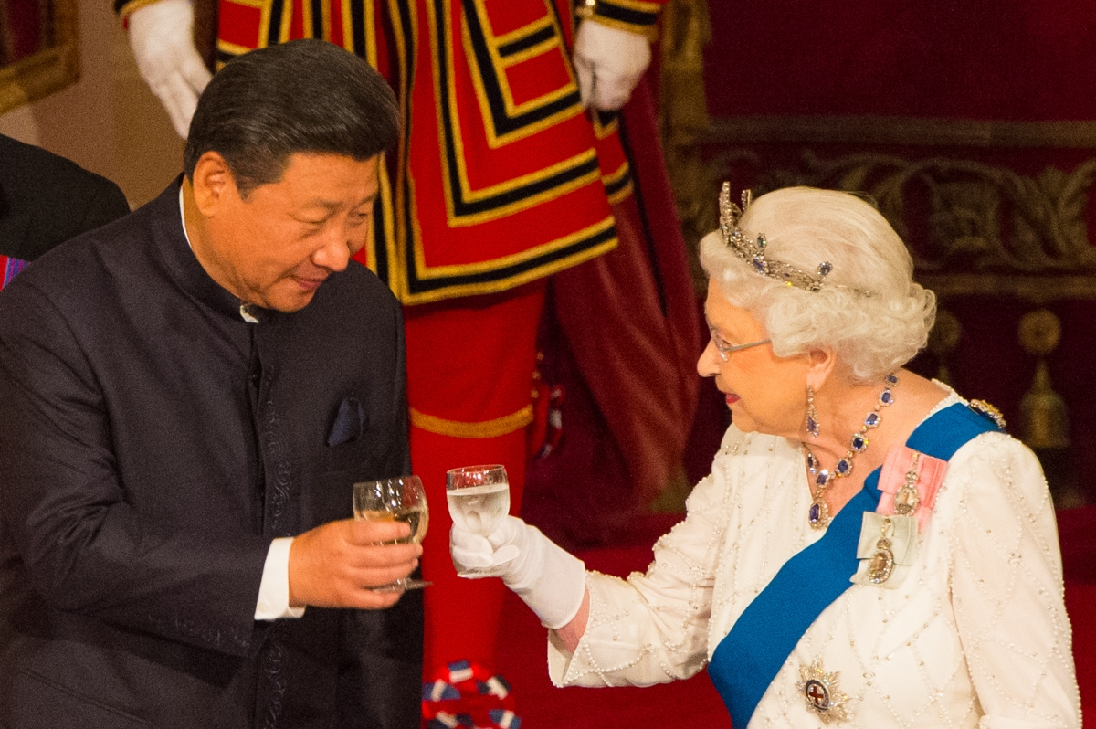 Queen Elizabeth II and Chinese president