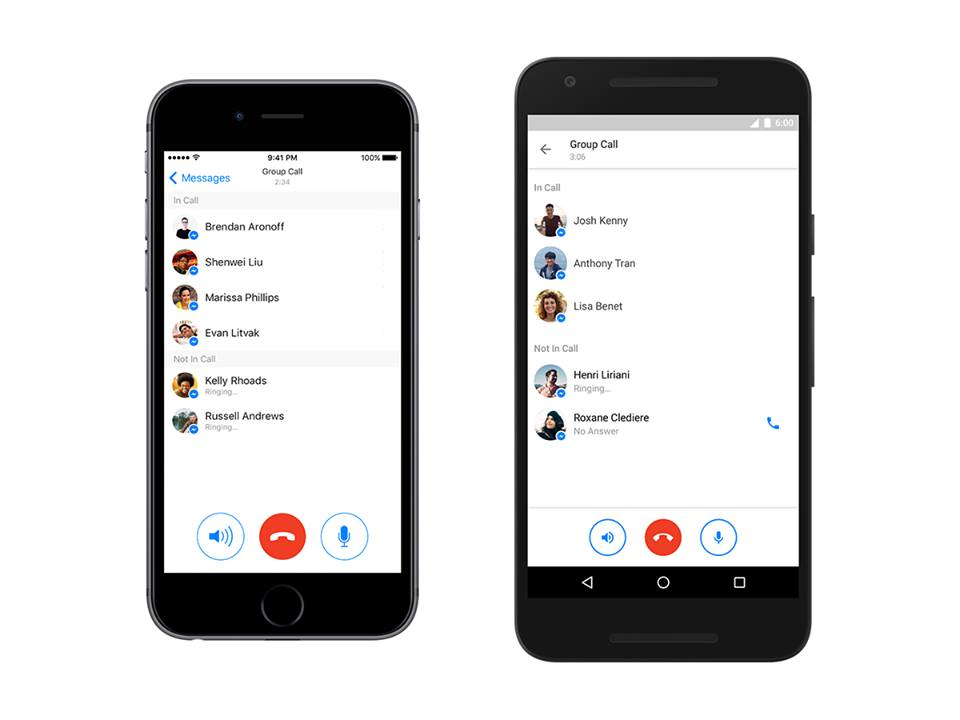 Facebook messenger launches group calling for up to 50 people