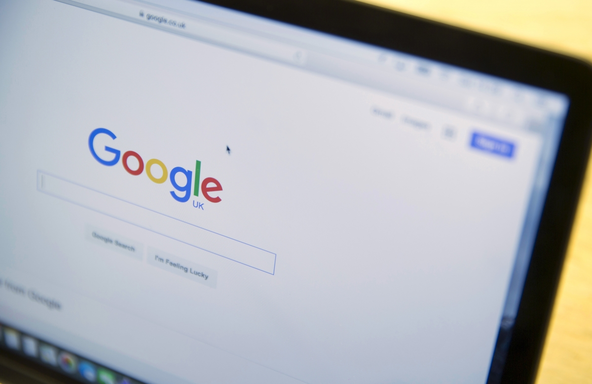 Google rated its own website as slightly dangerous