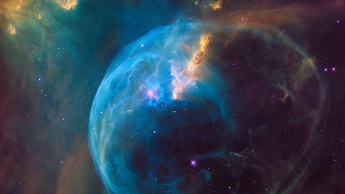 Hubble Telescope bubble nebula