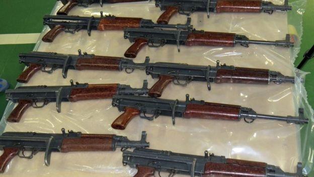 AK47-style assault rifles