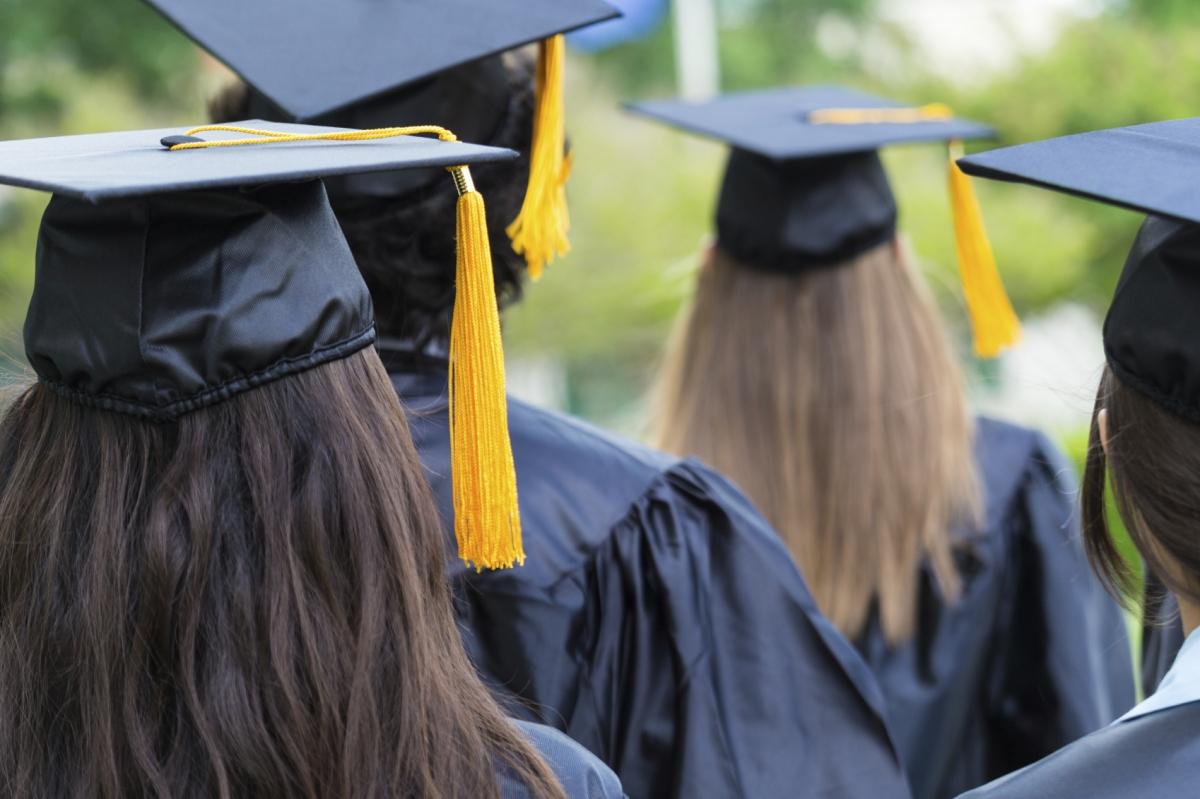Students at a graduation