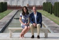 Duke and Duchess of Cambridge at theTaj