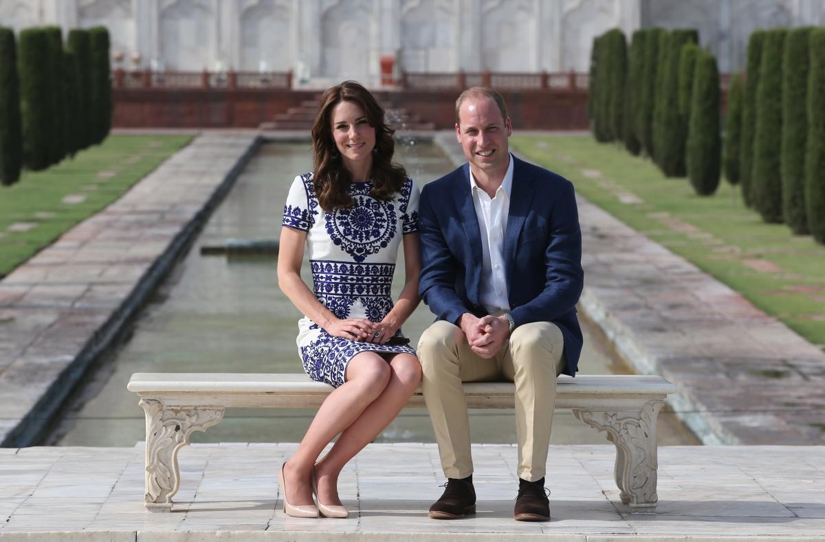 Duke and Duchess of Cambridge at theTaj