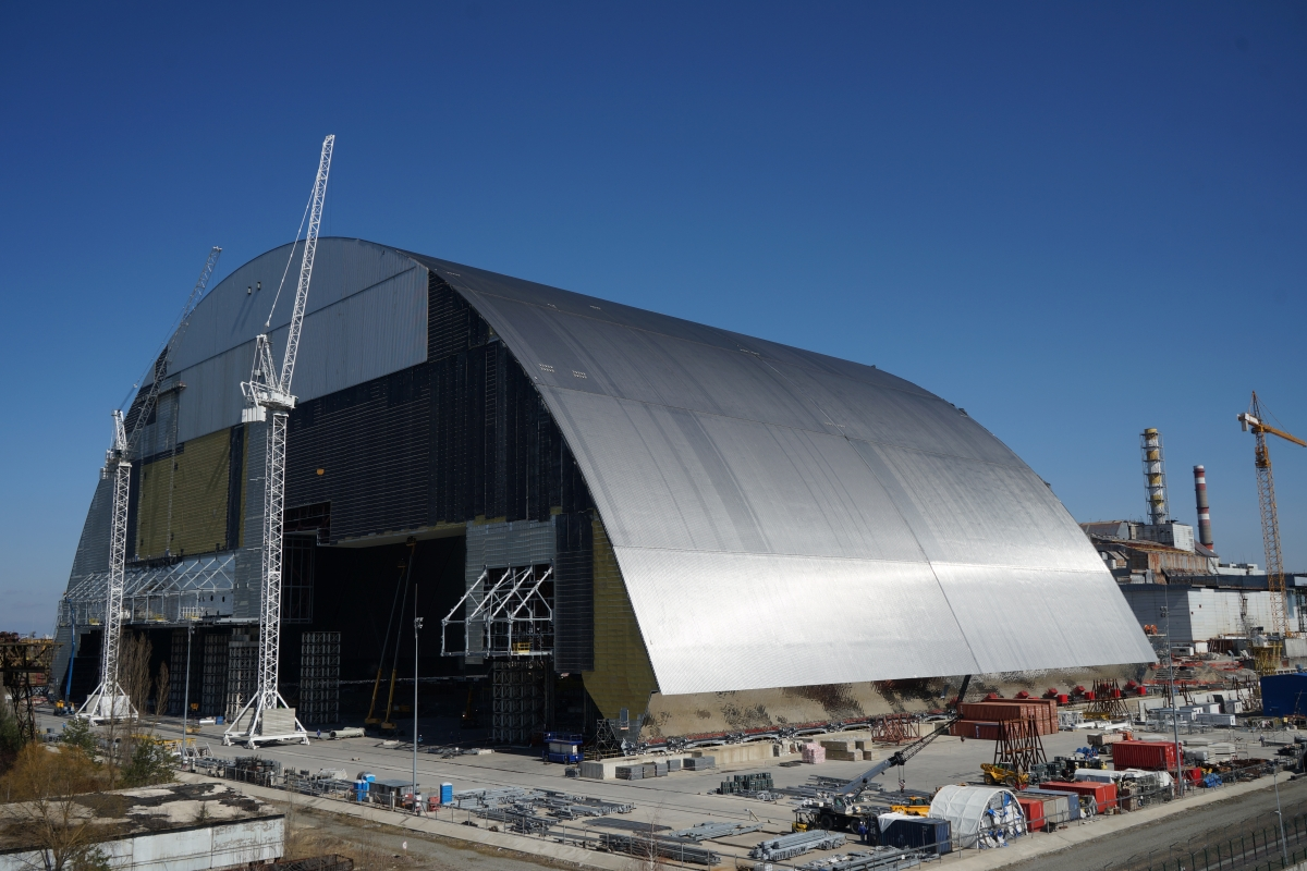 A giant shield will cover the remains of the Chernobyl reactor