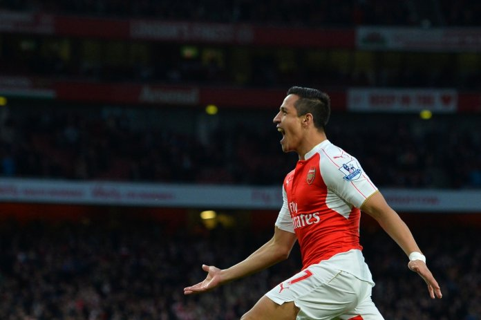 Alexis wheels away in celebration