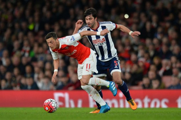 Mesut Ozil on the ball