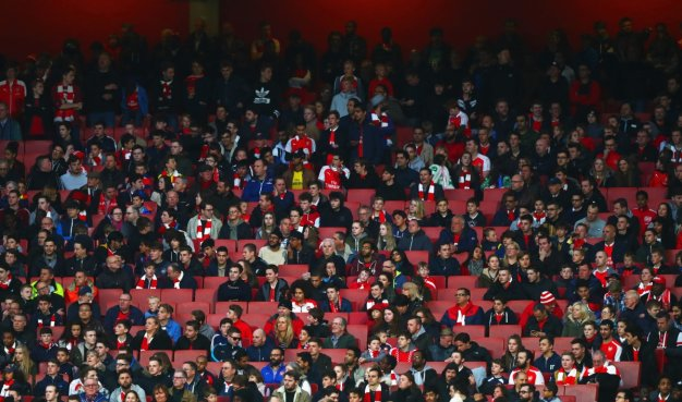 The crowd at the Emirates