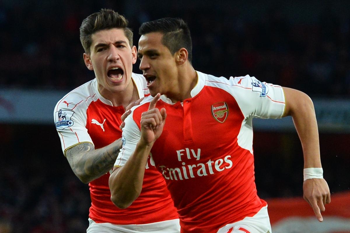 Alexis celebrating a goal