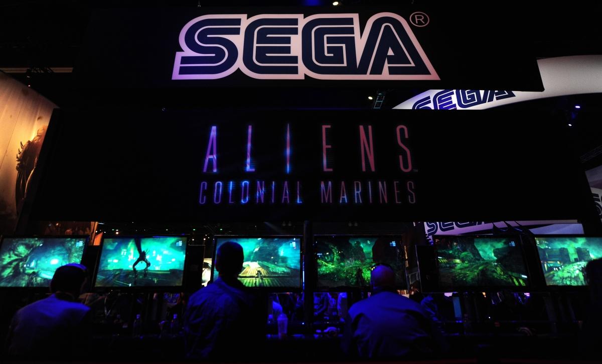 Sega Logo at E3 videogame extravaganza