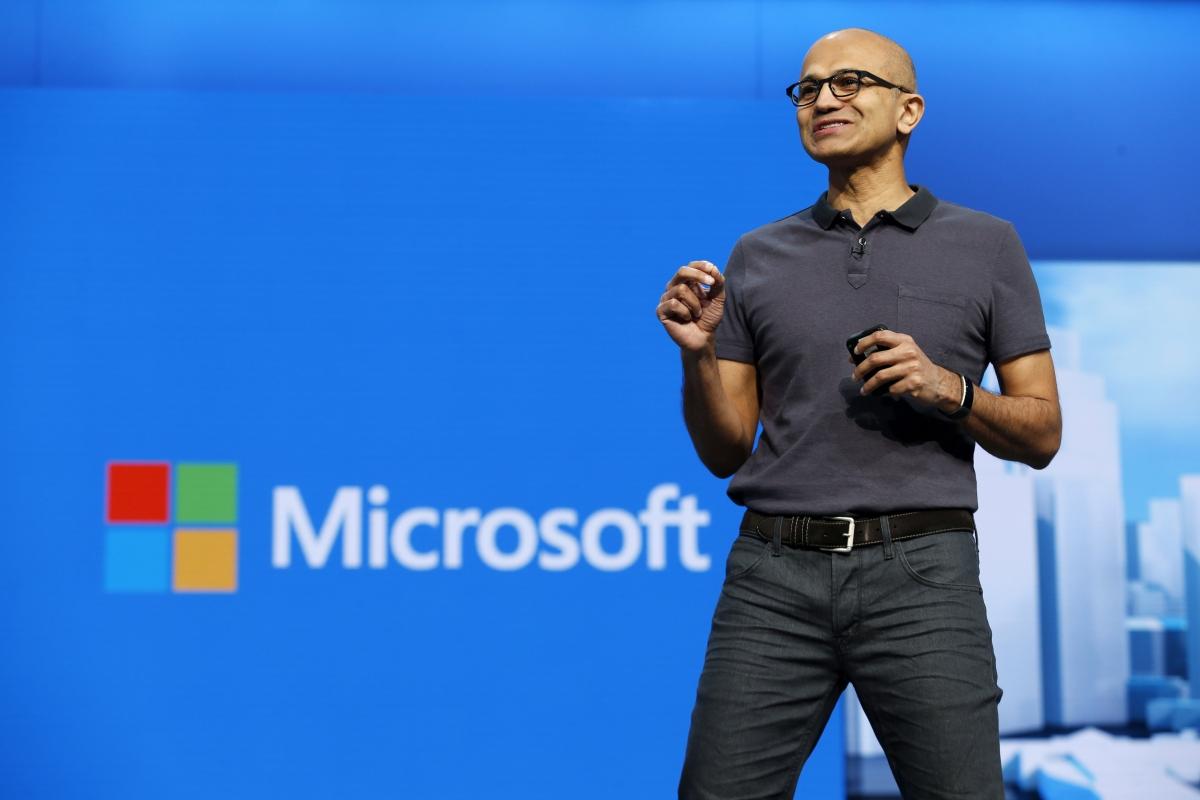 Microsoft CEO Satya Nadella at Build 2016