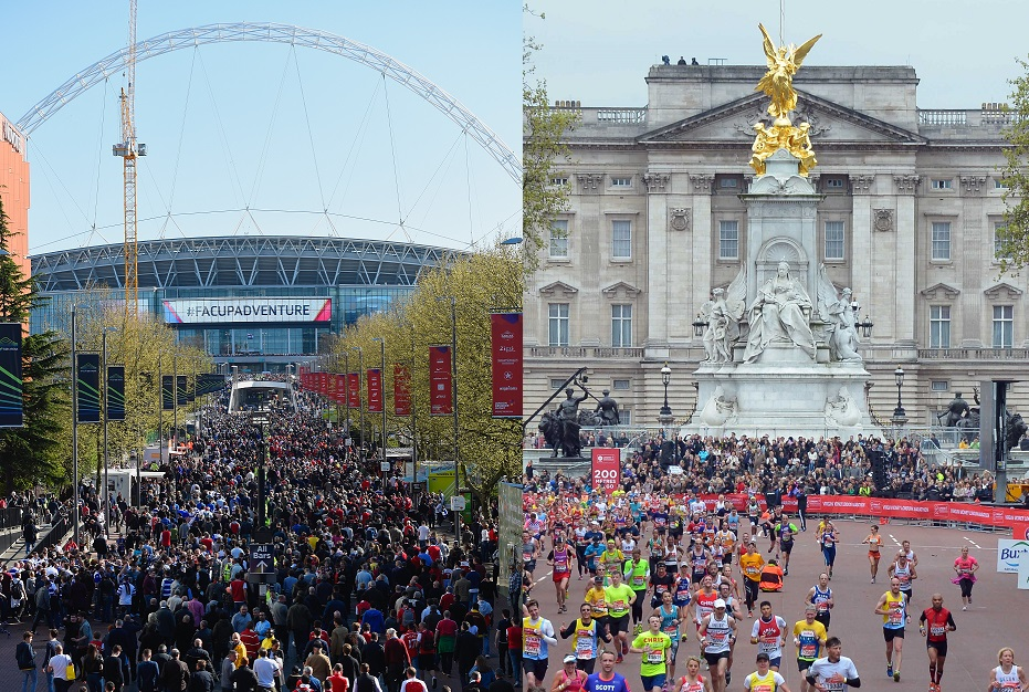 FA Cup semi final and London Marathon