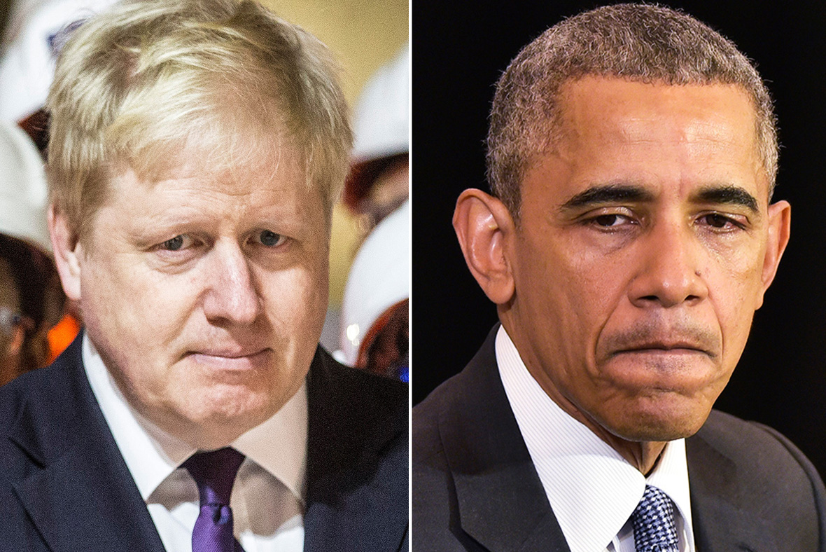 Boris Johnson, Barack Obama