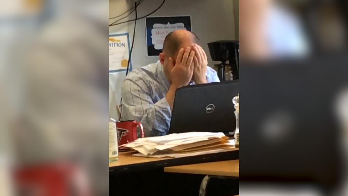 Teacher reaction