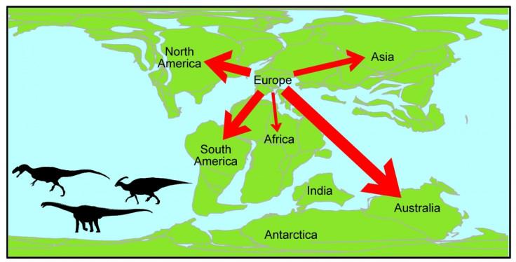 dinosaur migration europe