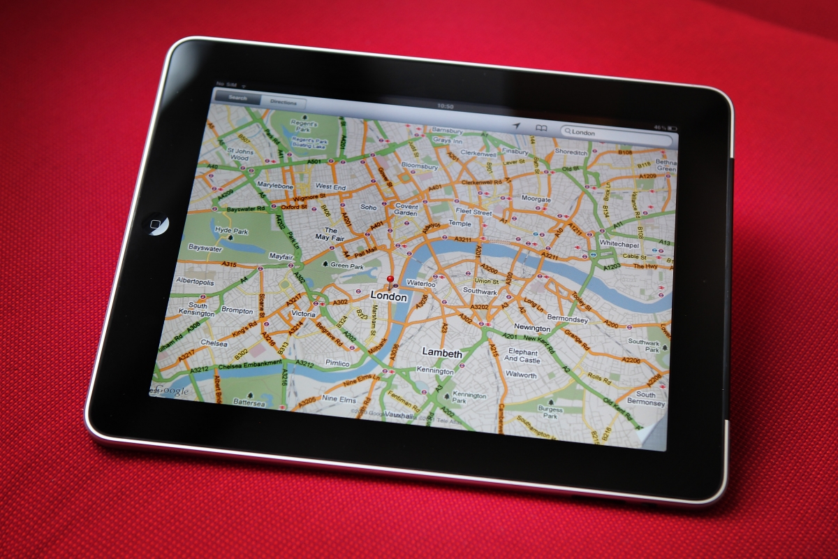 Apple iPad map
