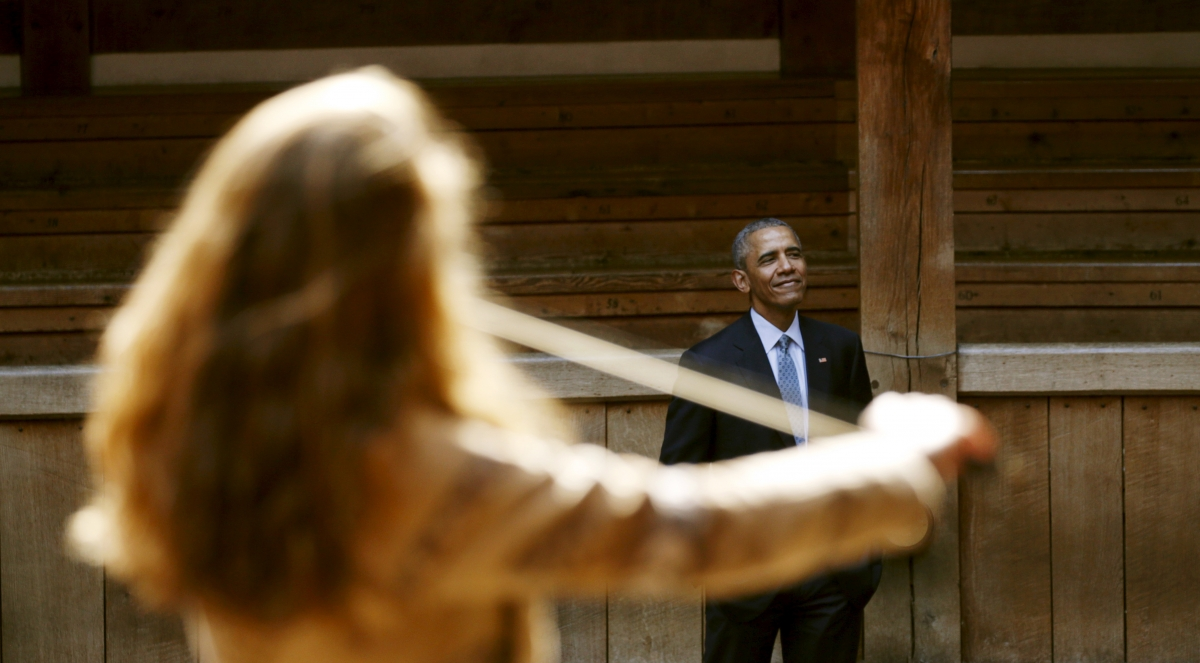 Barack Obama at the Globe theatre, London