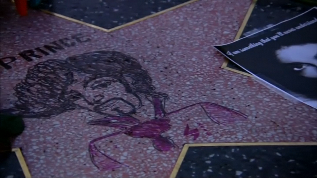 Prince walk of fame star