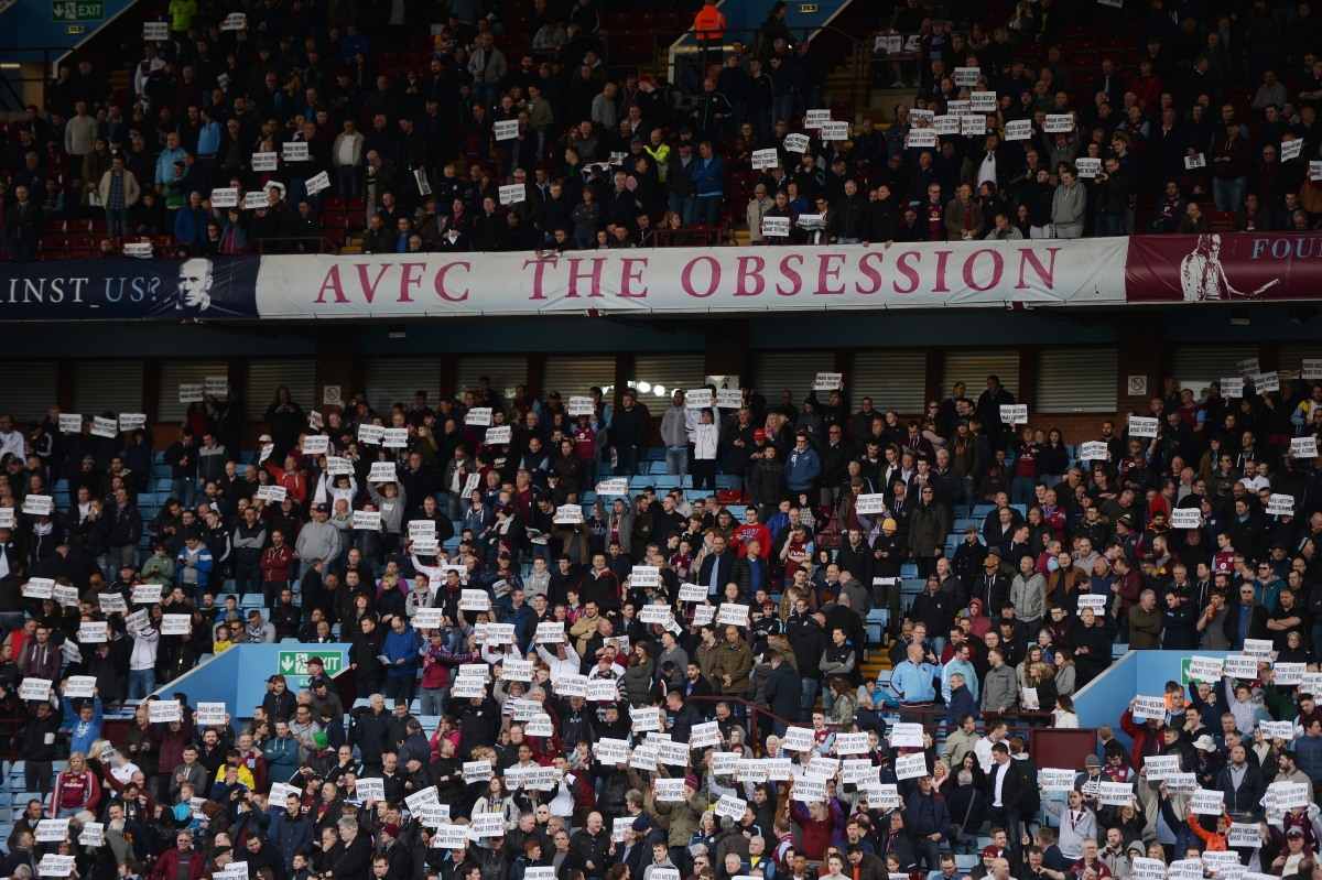 Fans made their point at Villa Park