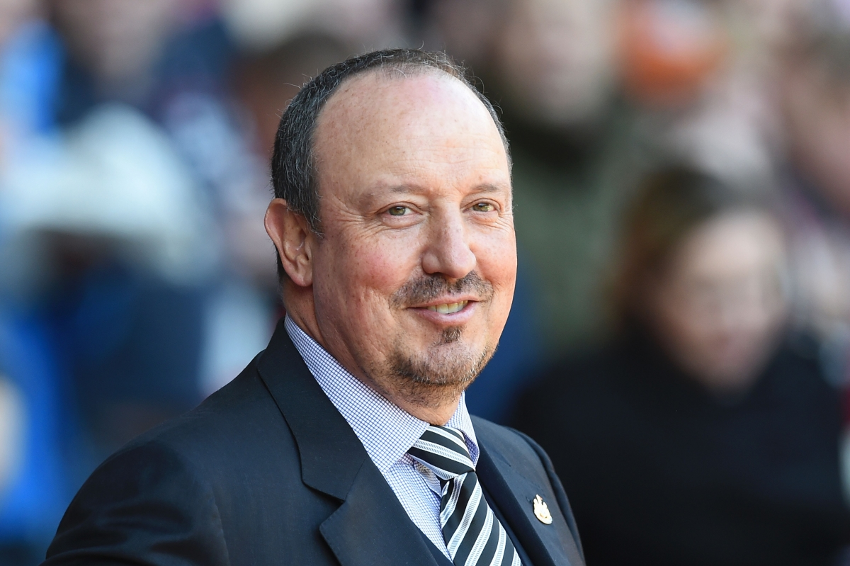 Benitez appeared relaxed before kick-off