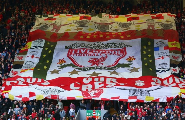 The scene inside Anfield