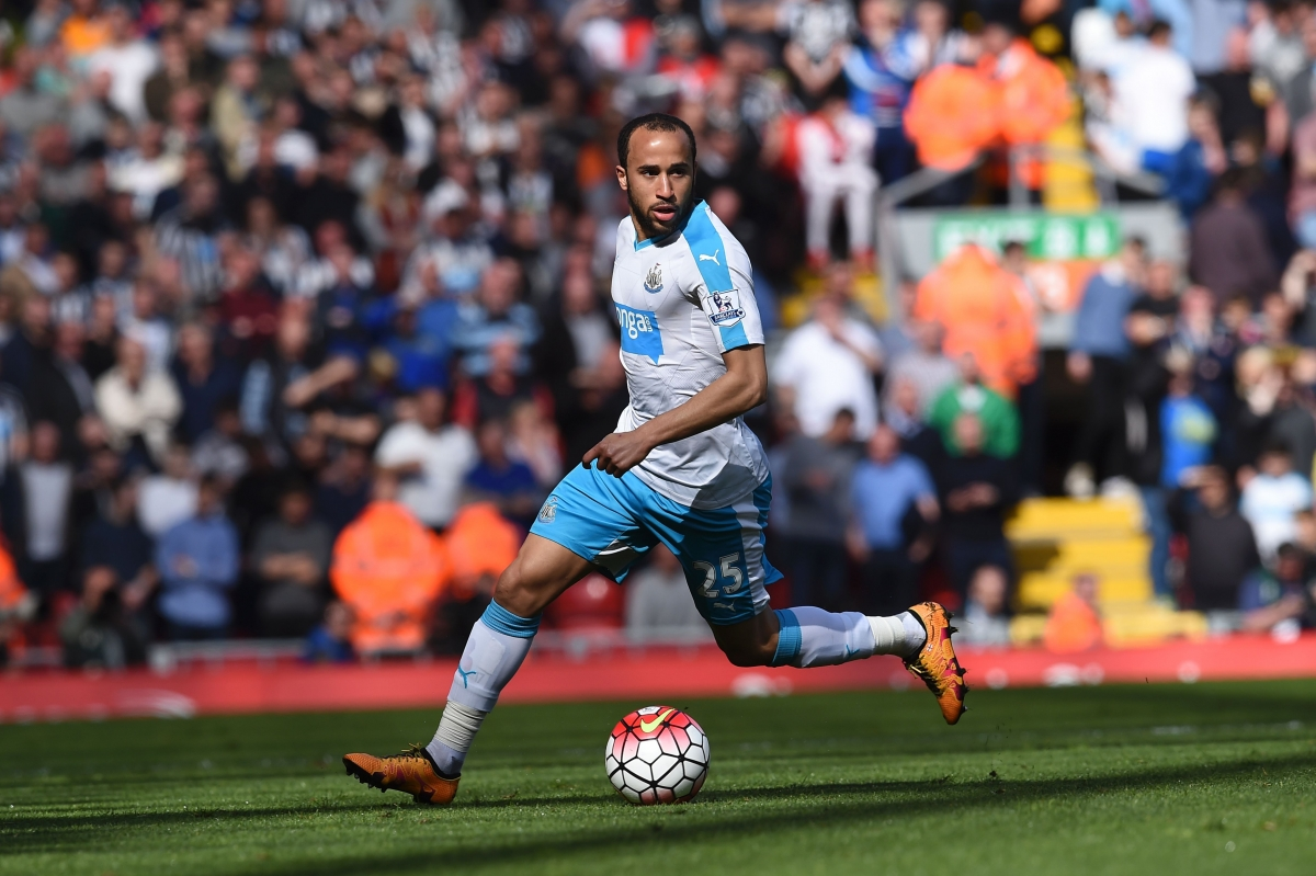 Andros Townsend on the ball for Newcastle
