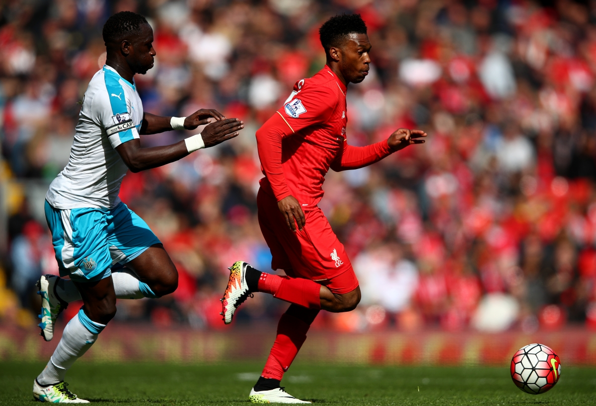 Daniel Sturridge dribbles with the ball