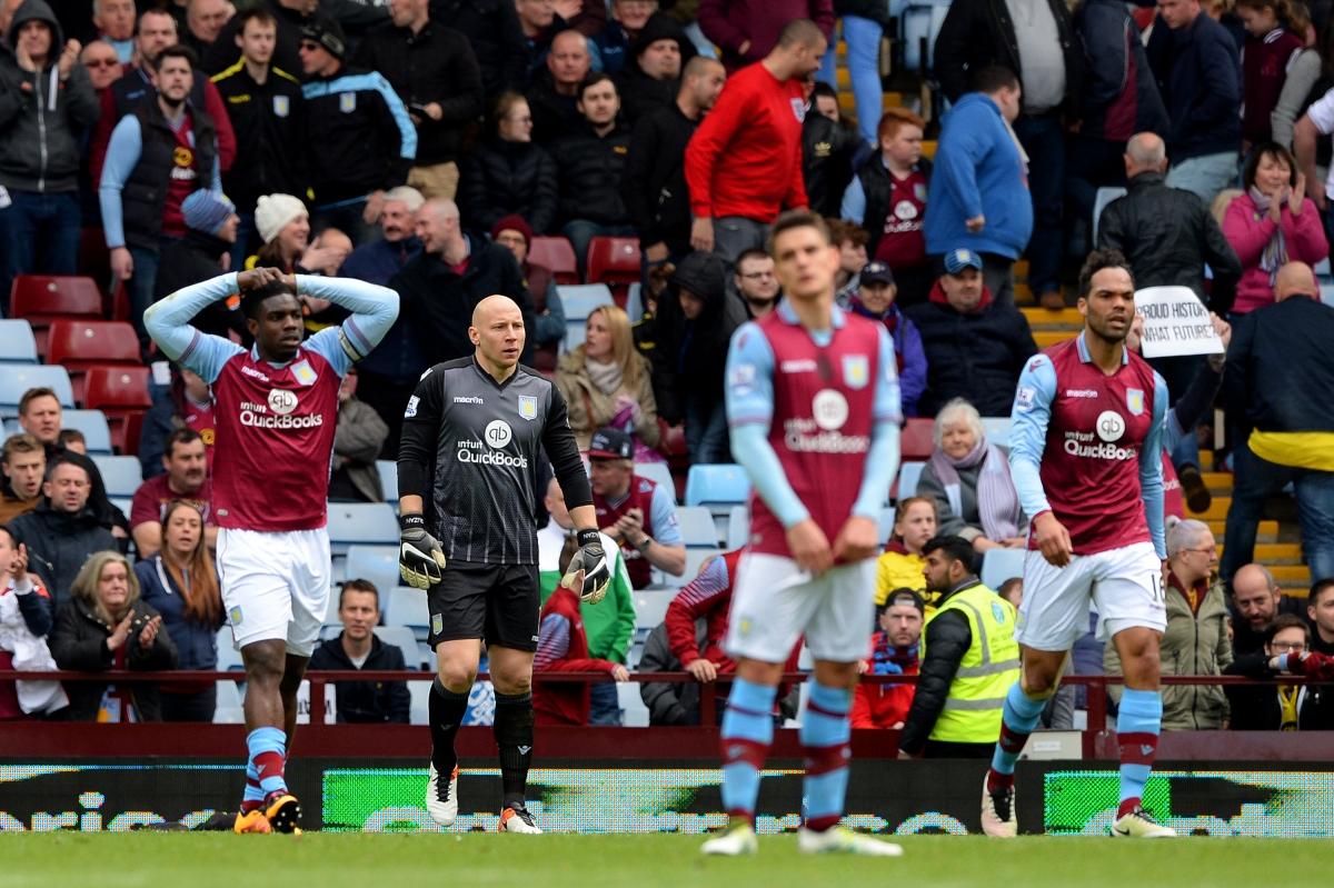 Villa slide towards defeat