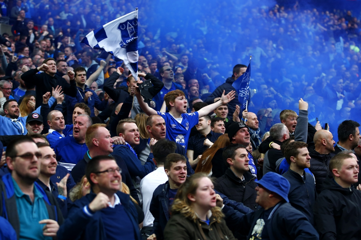 Everton fans at Wembley