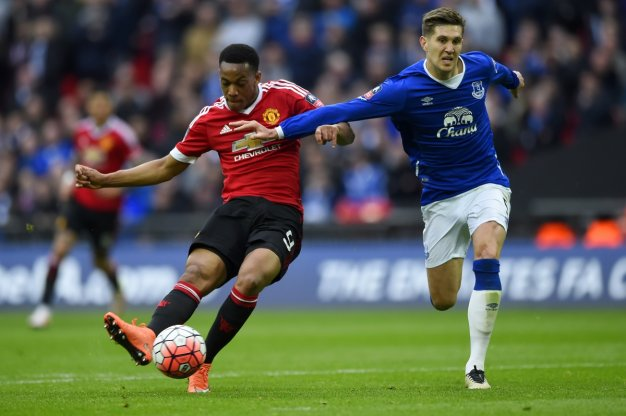 Anthony Martial finds the net