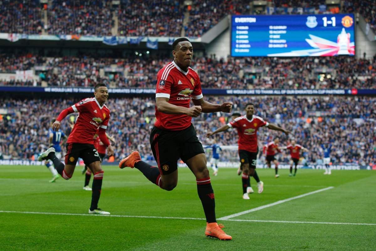 Martial scored the winning goal