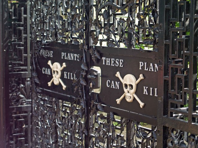 Poison gate at Alnwick Castle, Northumbria